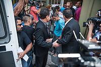 SÃO PAULO,SP, 08.11.2016 - CRIME-SP - Torcedores de Torcida Organizada do Corinthians que foram detidos por ameaça a Juiza, que determinou a prisão dos 31 torcedores em confronto no Rio de Janeiro, durante transferência do DHPP ( Delegacia de Homicídios e Proteção a Pessoa), que fica região central de São Paulo, na nesta terça-feira,  08  (Foto: Rogério Gomes/Brazil Photo Press)