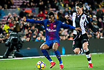 Nelson Cabral Semedo (L) of FC Barcelona is tackled by Sasa Lukic of Levante UD during the La Liga 2017-18 match between FC Barcelona and Levante UD at Camp Nou on 07 January 2018 in Barcelona, Spain. Photo by Vicens Gimenez / Power Sport Images