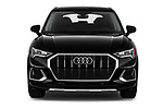 Car photography straight front view of a 2019 Audi Q3 Premium-Plus 5 Door SUV Front View