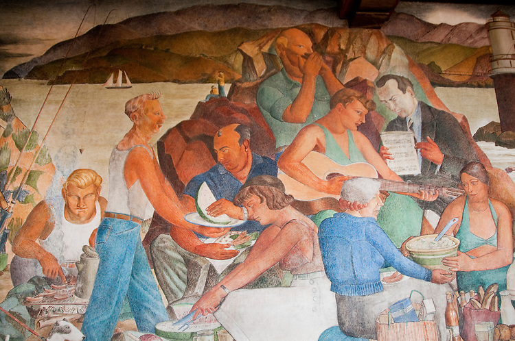 Murals, Beach House Restaurant, near Golden Gate Park, San Francisco, California, USA.  Photo copyright Lee Foster.  Photo # california108343