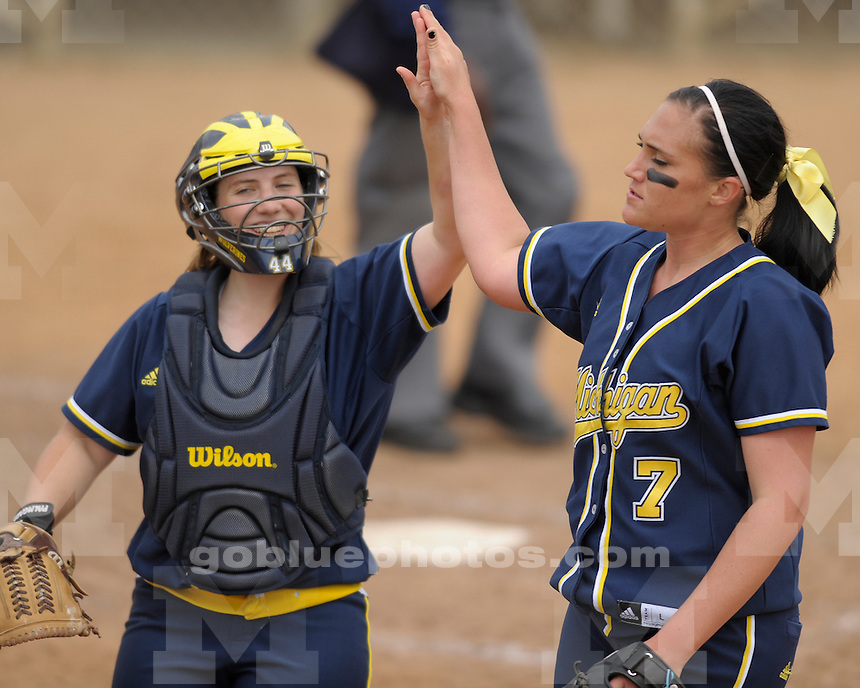University of Michigan softball 3-1 loss to Fresno State University at the Judi Garman Classic at Cal State, Fullerton on March 19, 2011