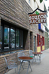 Source Juicery is in Edwardsville, at 220 North Main Street. It features smoothies, cold-pressed juice, and healthy food to-go. They have exterior seating as well as interior.