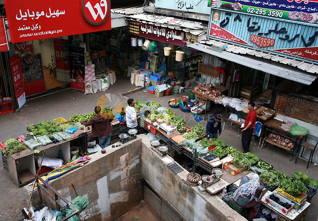 General view of the popular market (Al-Hesbah) in the West Bank city of Ramallah on May 25,2010.. photo by Eyad Jadallah