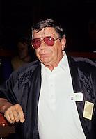 Claude Blanchard, April 1992<br /> <br /> Né le 19 mai 1932 ? Joliette, Québec - 20 août 2006 ? Montréal) était un acteur et chanteur canadien (québécois). Il a connu une longue et fructueuse carrière au théâtre, ? la télévision et au cinéma, celle-ci s'étendant sur 60 ans. Il a des origines autochtones.<br /> <br /> À l'âge de 14 ans, il donne des spectacles de variétés avec sa sœur Claudette et participe aux tournées de la troupe de Jean Grimaldi. Il fait partie, en 1947, du duo de danseurs Lucky Boys avec Mac Michel. Au milieu des années 1950, il forme un duo de chanson et de comédie burlesque avec Armande Cyr.<br /> <br /> Claude Blanchard fait ensuite équipe avec les comédiens Paul Desmarteaux, Paul Thériault et, surtout, Léo Rivest, qui sera son comparse sur scène pendant 25 ans.<br /> <br /> Durant les années 1960, il devient un invité régulier des émissions de télévision comiques de CFTM Alors raconte et Les Trois Cloches. À la fin de la décennie, ? la m?me antenne, il coanime avec Réal Giguère Madame est servie.<br /> <br /> Il prend alors la commande de sa propre émission de variétés, de 1970 ? 1974, et fait naître le personnage de « Nestor, l'enfant terrible ». À l'été 1980, Nestor revient sur scène et sur disque avec Patof, le temps de quelques spectacles au Parc Belmont.<br /> <br /> L'acteur jouera dans de nombreux téléromans au cours de sa carrière, dont En haut de la pente douce (SRC, 1959-1961), La Montagne du Hollandais (TVA, 1992-1994), Montréal, ville ouverte (SRC, 1991), Montréal, PQ (SRC, 1991-1995), Omert? (SRC, 1996-1999) et Virginie (SRC, depuis 1996).<br /> <br /> Claude Blanchard avait tout le bagage pour interpréter des mafiosi, et ce n'est pas surprenant, l'homme n'ayant jamais caché sa profonde amitié pour la famille Cotroni, et plus particulièrement pour Vic, avec qui il dirigera le French Casino au milieu des années 50.<br /> <br /> «Les Cotroni sont plus que des amis, ce sont mes frères», a-t-il souvent répété. «Nous avons été élevés