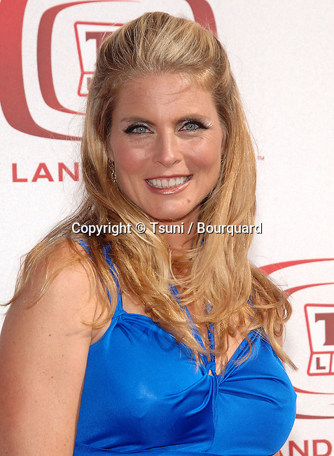 Kim Alexis  - <br /> 6th TV Land Awards 2008 at the Barker Hangar  in Los Angeles.<br /> <br /> headshot<br /> eye contact<br /> smile