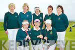 JUNIOR; The Dooks ladies golf team who played Killarney in the Ladies Junior Cup at Tralee Golf Club on Sunday. Front l-r: maura Shanahan, Joan Harmon and Eileen McCarthy. back l-r: Kate Keating (manager), Mary Inglis, Ogie O'Sullivan, Catherine Doyle and Shivaun Shanahan (lady capt).