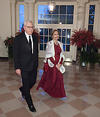 David Rubenstein, Managing Director and Co-CEO, The Carlyle Group and Mrs. Alice Rubenstein arrive at  the State Dinner for China's President President Xi and Madame Peng Liyuan at the White House in Washington, DC for an official State Visit Friday, September 25, 2015. Credit: Chris Kleponis / CNP