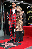 LOS ANGELES - MAR 16:  RuPaul Andre Charles, Jane Fonda at the RuPaul Star Ceremony on the Hollywood Walk of Fame on March 16, 2018 in Los Angeles, CA