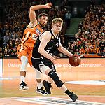 12.05.2019, ratiopharm arena, Neu-Ulm, GER, BBL, ratiopharm ulm vs RASTA Vechta, <br /> im Bild Ismet Akpinar (Ulm, #8), Luc van Slooten (Vechta, #11)<br /> <br /> Foto &copy; nordphoto / Hafner