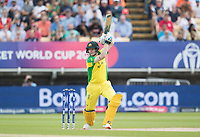 Steve Smith (Australia) drives through the covers during Australia vs England, ICC World Cup Semi-Final Cricket at Edgbaston Stadium on 11th July 2019