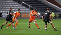 DURBAN, SOUTH AFRICA - JULY 14: Matias Alemanno of the Jaguares during the Super Rugby match between Cell C Sharks and Jaguares at Jonsson Kings Park on July 14, 2018 in Durban, South Africa. Photo: Steve Haag / stevehaagsports.com