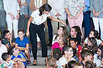 Queen Letizia of Spain during the opening of School Year in Torrejoncillo (Caceres). September 17, 2019. (ALTERPHOTOS/Francis Gonzalez)