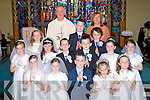 Anablath NS, Kilcummin pupils who received their first Holy communion in Our lady of Lourdes church, Kilcummin on Saturday front row l-r: Lyscelle O'Shea, Emma O'Connor, Cian O'Sullivan, maddie Connolly, Annie O'Sullivan. Middle row: Eabha O'Dwyer, jessica O'Neill, Liam Fleming, Killian O'Brien, Meagan Lenihan, Kayleigh Doyle. Back row: Molly Doyle, Conor Crowley, Broghan McCarthy with Fr Joe Begley and teacher Brid Ford ..
