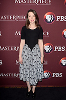 """LOS ANGELES - JAN 16:  Annes Elwy at the PBS Masterpiece """"Little Women"""" TV show panel, Arrivals, TCA Winter Press Tour at the Langham Huntington Hotel on January 16, 2018 in Pasadena, CA"""