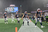 FOXBOROUGH, MA - NOVEMBER 24: New England Patriots Wide Receiver N'Keal Harry #15 celebrates his touchdown during a game between Dallas Cowboys and New England Patriots at Gillettes on November 24, 2019 in Foxborough, Massachusetts.