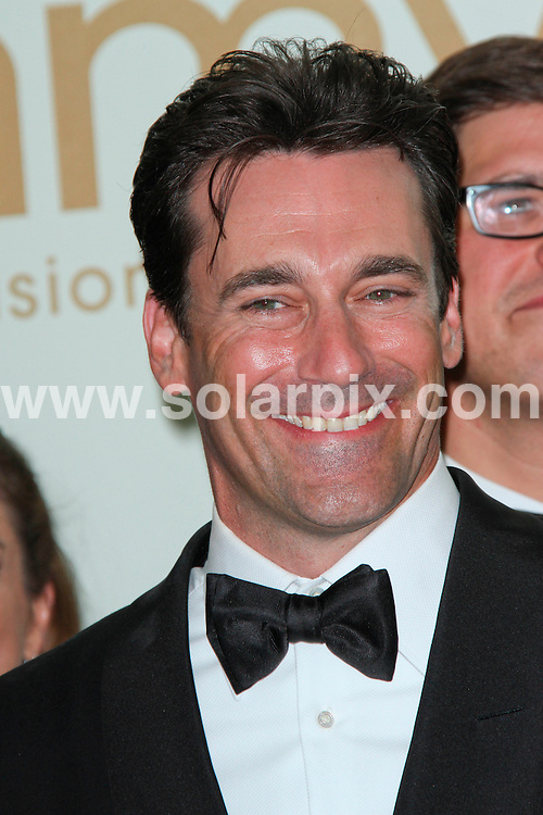 **ALL ROUND PICTURES FROM SOLARPIX.COM**                                             **SYNDICATION RIGHTS FOR UK, AUSTRALIA, DENMARK, PORTUGAL, S. AFRICA, SPAIN & DUBAI (U.A.E) & ASIA (EXCLUDING JAPAN) ONLY**                                                                                  63rd Annual Primetime Emmy Awards Press Room at Nokia Theatre, Los Angeles, CA, USA                                                                            This pic:   Jon Hamm                                                                                            JOB REF:  13987    PHZ evans    DATE:  19.09.11                                                          **MUST CREDIT SOLARPIX.COM OR DOUBLE FEE WILL BE CHARGED**                                                                      **MUST AGREE FEE BEFORE ONLINE USAGE**                               **CALL US ON: +34 952 811 768 or LOW RATE FROM UK 0844 617 7637**