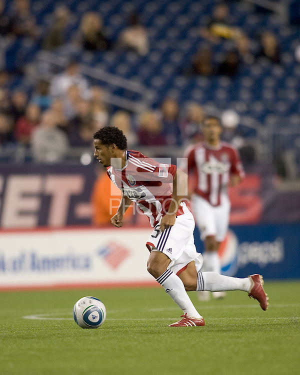 Second half substitute Chivas USA forward/midfielder Jose Macotelo (15). Chivas USA defeated the New England Revolution, 4-0, at Gillette Stadium on May 5, 2010.