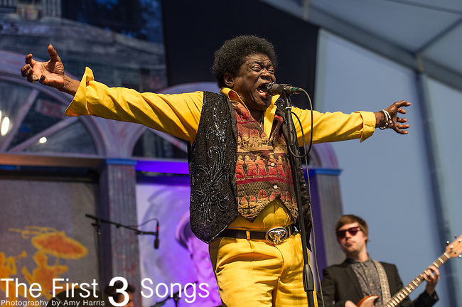 Charles Bradley & his Extraordinaires perform during the New Orleans Jazz & Heritage Festival in New Orleans, LA.