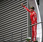 26.08.2018, Circuit de Spa-Francorchamps, Spa-Franchorchamps, FORMULA 1 2018 JOHNNIE WALKER BELGIAN GRAND PRIX, 23. - 26.08.2018<br /> , im Bild<br />Podium:<br />Sieger Sebastian Vettel (GER#5), Scuderia Ferrari<br /> <br /> Foto © nordphoto / Bratic