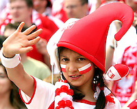 Young Polish fan. Poland defeated Costa Rica 2-1 in their FIFA World Cup Group A match at FIFA World Cup Stadium, Hanover, Germany, June 20, 2006.