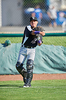 Grand Junction Rockies Ronaiker Palma (47) before the game against the Ogden Raptors at Lindquist Field on June 15, 2019 in Ogden, Utah. The Raptors defeated the Rockies 12-11. (Stephen Smith/Four Seam Images)