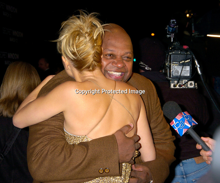 "Maria Bello and Charles Dutton ..at the World Premiere of ""Secret Window"" on March 7, 2004 at the Loews Lincoln Square.                                   Photo by Robin Platzer, Twin Images"
