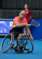 Rotterdam, Netherlands, December 13, 2016, Topsportcentrum, Lotto NK Tennis, Wheelchair,  Berry Korst (NED)<br /> Photo: Tennisimages/Henk Koster