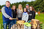 Shane O'Sullivan, Annie O'Sullivan, Rachel Carey, Aisling O'Sullivan Mike O'Connor and Ciara O'Sullivan  at the Treashing for Cancer in Beaufort on Sunday