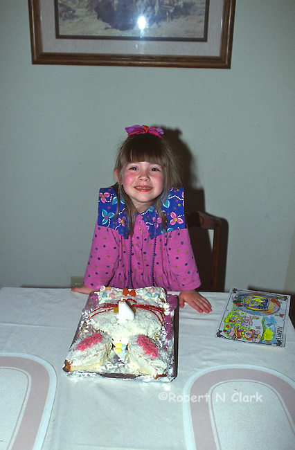 Girl with Easter cake