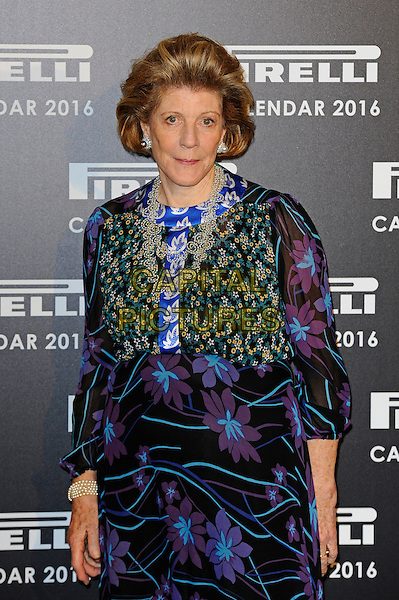 LONDON, ENGLAND - NOVEMBER 30: Agnes Gund attending Gala Evening To Celebrate The Pirelli Calendar 2016 By Annie Leibovitz at Camden Roundhouse on November 30, 2015 in London, England.<br /> CAP/MAR<br /> &copy; Martin Harris/Capital Pictures