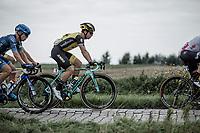 Later winner Dylan Groenewegen (NED/Lotto NL - Jumbo) riding the cobbles. <br /> <br /> 103th Kampioenschap van Vlaanderen 2018 (UCI 1.1)<br /> Koolskamp &ndash; Koolskamp (186km)