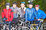 BACK ON THE CHAIN GANG: Braving the cold early on Saturday morning the Chain Gang Cycling Club just before one of their training session at the Medowlands Hotel l-r: Aileen Clifford, Darragh Crowley (Secretary), Toma?s Crowley (Chairperson), Mike Dennehy and Jennifer Crowley.   Copyright Kerry's Eye 2008