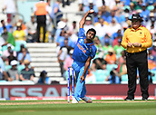 June 18th 2017, The Kia Oval, London, England;  ICC Champions Trophy Cricket Final; India versus Pakistan; Jasprit Bumrah of India bowls