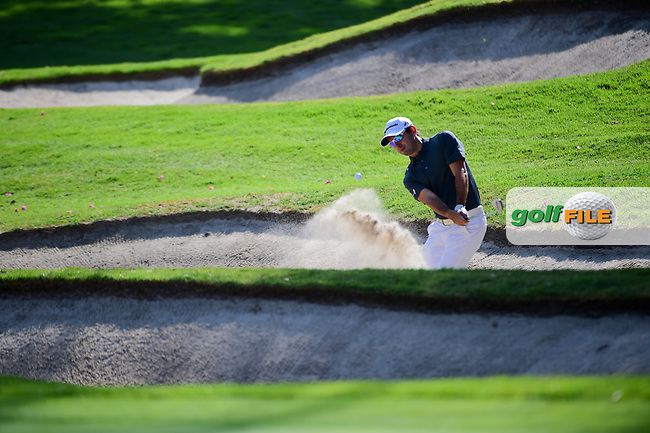 Fabrizio Zanotti (PAR) hits from the trap on 1 during round 1 of the World Golf Championships, Mexico, Club De Golf Chapultepec, Mexico City, Mexico. 3/2/2017.<br /> Picture: Golffile | Ken Murray<br /> <br /> <br /> All photo usage must carry mandatory copyright credit (&copy; Golffile | Ken Murray)