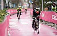 Simon Yates (GBR/Mitchelton-Scott) at the morning iTT course recon<br /> <br /> preparations for Stage 9 (ITT): Riccione to San Marino (34.7km)<br /> 102nd Giro d'Italia 2019<br /> <br /> ©kramon