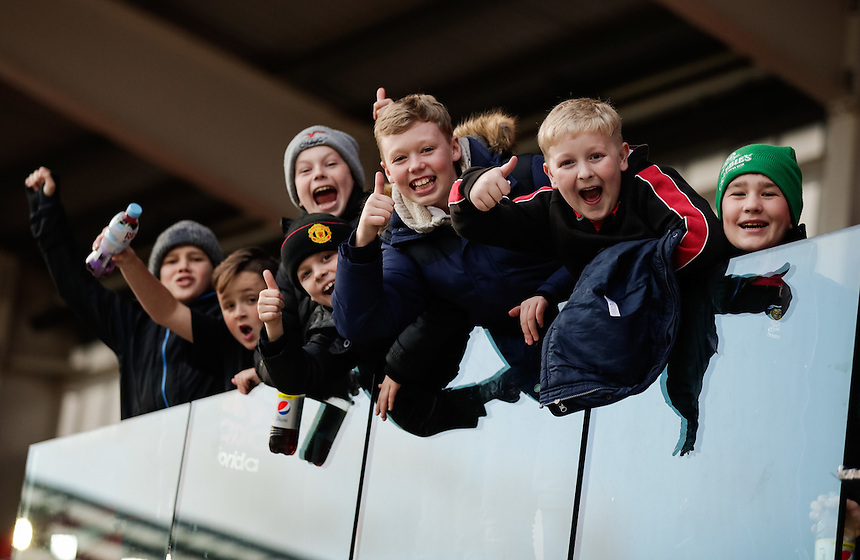 Scarlets fans after the match<br /> <br /> Photographer Simon King/CameraSport<br /> <br /> European Rugby Champions Cup Pool 3 - Scarlets v Saracens - Sunday 15th January 2017 - Parc y Scarlets - Llanelli <br /> <br /> World Copyright &copy; 2017 CameraSport. All rights reserved. 43 Linden Ave. Countesthorpe. Leicester. England. LE8 5PG - Tel: +44 (0) 116 277 4147 - admin@camerasport.com - www.camerasport.com