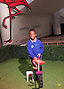Southbank Centre's Imagine Children's Festival <br /> at the Royal Festival Hall, Southbank, London, Great Britain <br /> 13th February 2015 <br /> <br /> <br /> <br /> Children interact with Flamingo Croquet <br /> <br /> <br /> <br /> Photograph by Elliott Franks <br /> Image licensed to Elliott Franks Photography Services