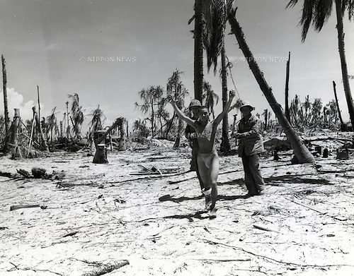 June 20-23, 1943 : The Battle of Tarawa was a battle in the Pacific Theatre of World War II, largely fought from November 20 to November 23, 1943. It was the second time the United States was on the offensive, and the first offensive in the critical central Pacific region. (Photo by Kingendai Photo Library/AFLO)
