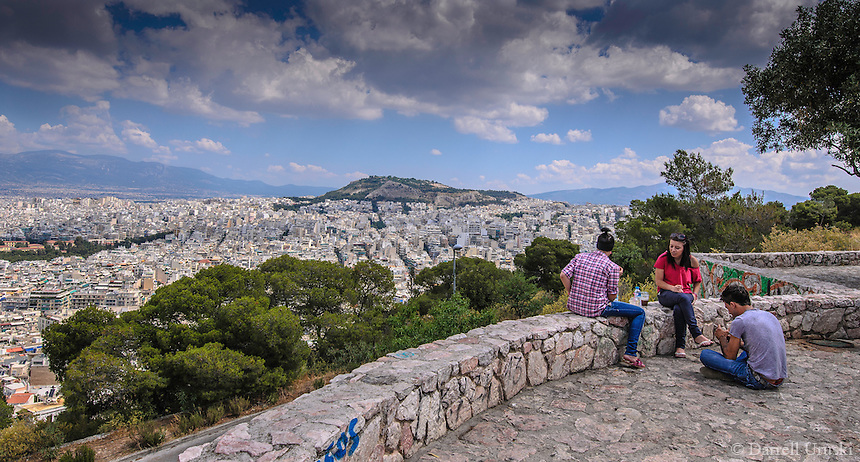 Photograph of the city skyline in Athens, Greece.