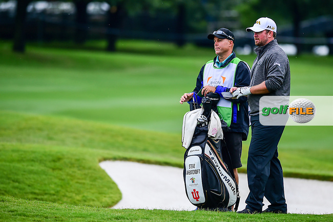 Steve Wheatcroft (USA) looks over his second shot on 16 during the round 1 of  the AT&amp;T Byron Nelson, TPC Four Seasons, Irving, Texas, USA. 5/19/2016.<br /> Picture: Golffile | Ken Murray<br /> <br /> <br /> All photo usage must carry mandatory copyright credit (&copy; Golffile | Ken Murray)