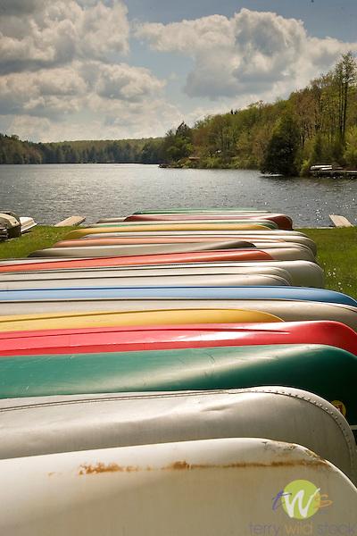 Lake Mokoma canoes.