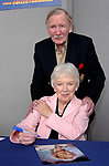 Dame June Whitfield dies aged 93 photo at collectormania 13 with Leslie Phillips  at the centre milton keyens