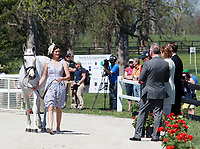LEXINGTON, KY - April 26, 2017. #23 Sparrows Nio and Allie Sacksen from the USA at the Rolex Three Day Event First Horse Inspection at the Kentucky Horse Park.  Lexington, Kentucky. (Photo by Candice Chavez/Eclipse Sportswire/Getty Images)