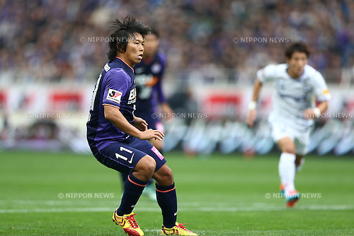 Hisato Sato (Sanfrecce),<br /> NOVEMBER 8, 2014 - Football / Soccer :<br /> Hisato Sato of Sanfrecce Hiroshima scores the opening goal from the penalty spot during the 2014 J.League Yamazaki Nabisco Cup Final match between Sanfrecce Hiroshima 2-3 Gamba Osaka at Saitama Stadium 2002 in Saitama, Japan. (Photo by Kenzaburo Matsuoka/AFLO)