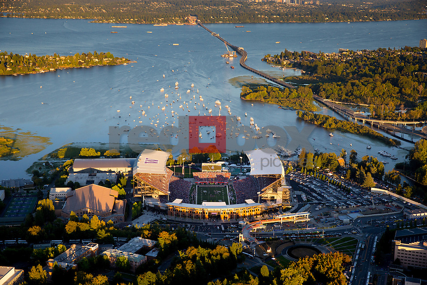 The first game in the new Husky Stadium saw the University of Washington defeat Boise State 38-6 on Saturday August 31, 2013. (Photo by Scott Eklund /Red Box Pictures)