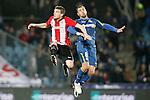 Getafe's Mehdi Lacen (r) and Athletic de Bilbao's Javi Eraso during La Liga match. January 30,2016. (ALTERPHOTOS/Acero)