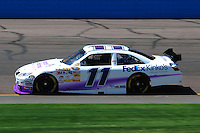 Apr 10, 2008; Avondale, AZ, USA; NASCAR Sprint Cup Series driver Denny Hamlin during practice for the Subway Fresh Fit 500 at Phoenix International Raceway. Mandatory Credit: Mark J. Rebilas-