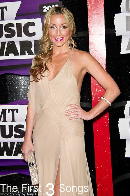 Ashley Monroe arrives at the 2013 CMT Music Awards at Bridgestone Arena in Nashville, Tennessee.
