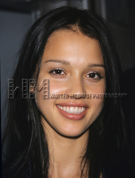 Jessica Alba pictured at FOX TV Upfront at the Lincoln Center in New York City on May 18, 2000.
