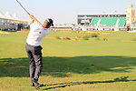 Robert Karlsson plays his 3rd shot from the rough on the 18th hole during Day 1 of the Dubai World Championship, Earth Course, Jumeirah Golf Estates, Dubai, 25th November 2010..(Picture Eoin Clarke/www.golffile.ie)